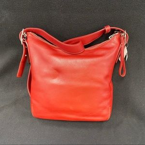 Coach Bags - COACH RED LEATHER SATCHEL  NWT